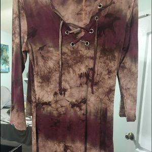 Dresses & Skirts - Boho fitted tie dye dress